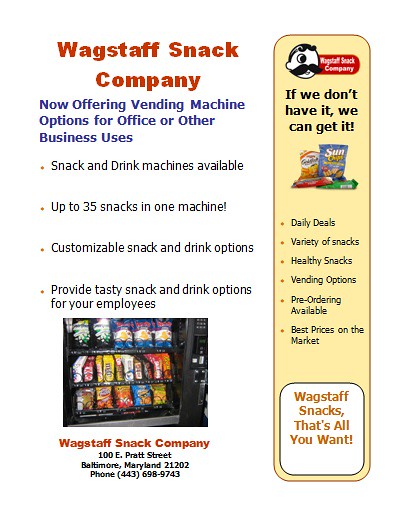 Vending Machines Now AVAILABLE!