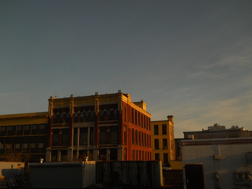 Buildings in evening light, Springfield MA