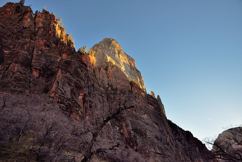 The Great White Throne in the Late Afternoon Sun (Zion National Park)