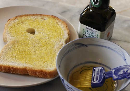 Grilled cheese with olive oil