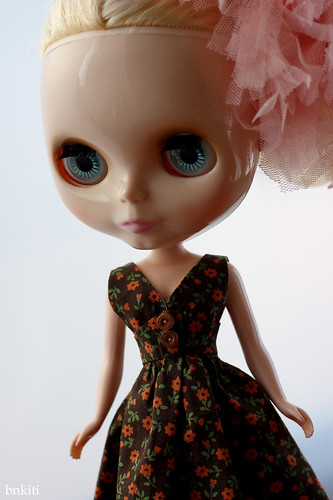 new dress, orange flowers