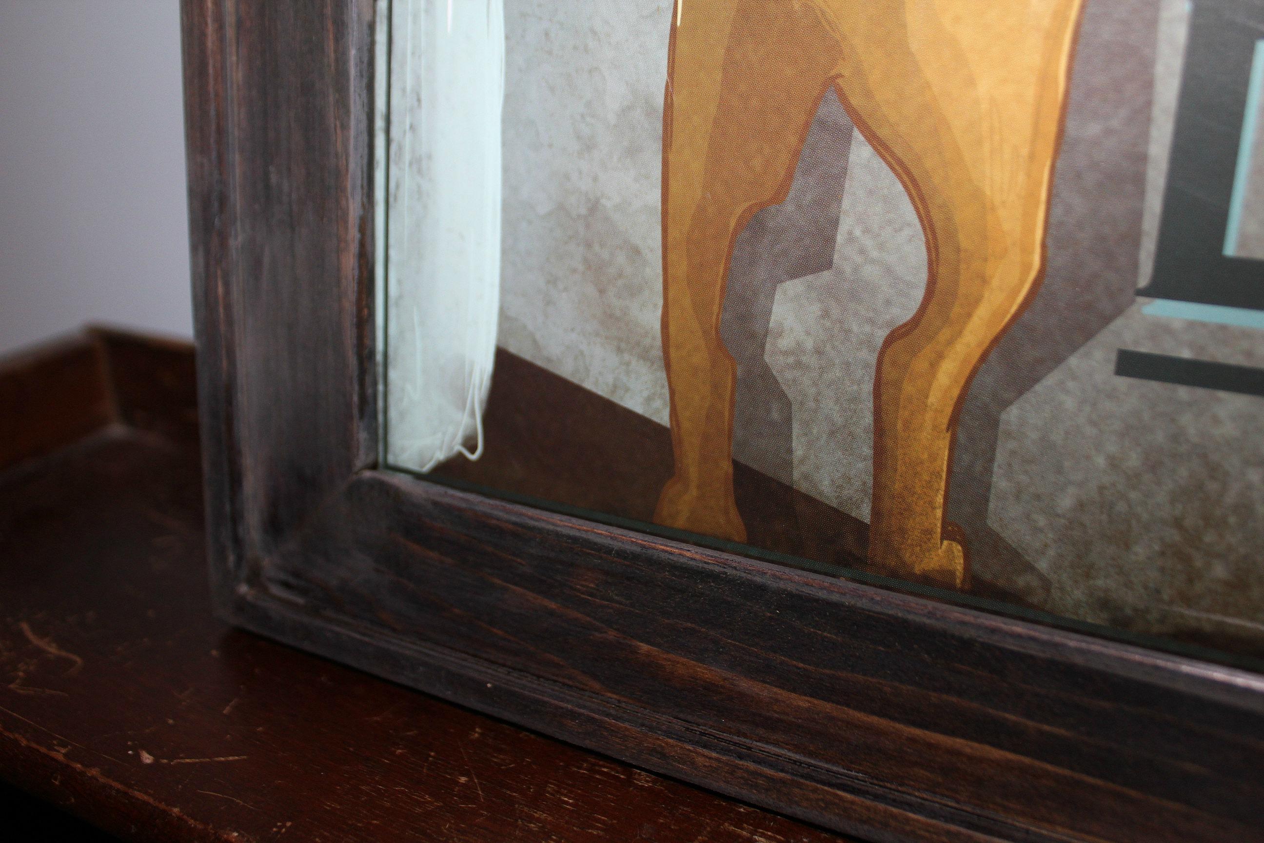 DIY frame closeup