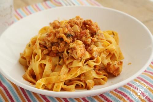 Tallarines con gambones picantes www.cocinandoentreolivos.com (1)