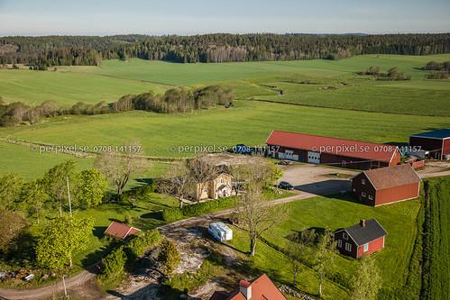 sverige swe västragötaland bärby flygfoto högsäter ulvstack