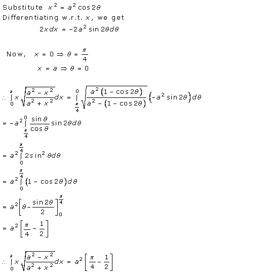 RD Sharma Class 12 Solutions Chapter 20 Definite Integrals Ex 20.2 Q40
