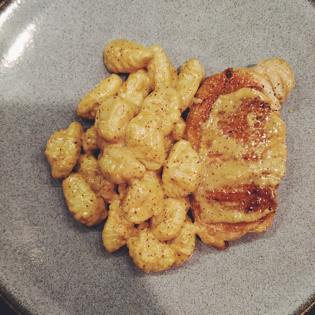 Quick & Easy Mustard Pork Chops with Gnocchi - Home - Kiss My Whisk