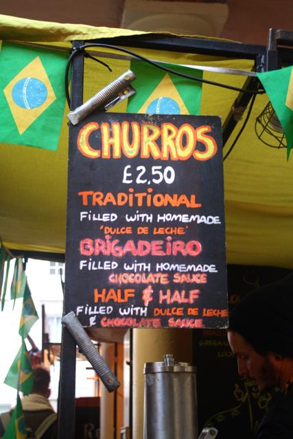 Brazilian churros at the Greenwich Market, Greenwich
