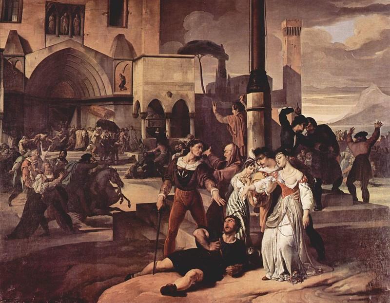 A scene of the Sicilian Vesper by Francesco Hayez