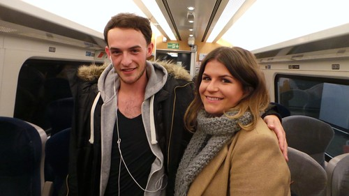 Train Home from Leeds - Feb 2015 - Fellow Travellers Pose - Strangers on a Train