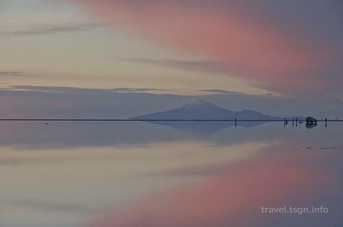 【写真】世界一周 : ウユニ塩湖(夕方-6)