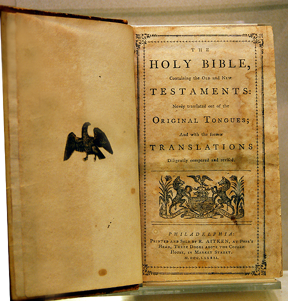 Aitken Bible (1782) taken from recollections.wheaton.edu