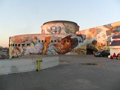 Grafiti de la estación de autobuses Plaza de Armas, Sevilla