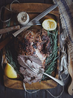 Honey-Herb-Yogurt Roasted Leg of Lamb