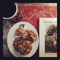 Not the healthiest of breakfasts,but #snowday ! Yippee!!! #cookiesandcoffee, #breakfastandabook #ABeautifulMess