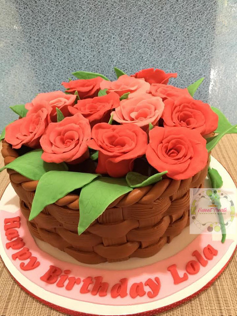 Flower Cake by Donna