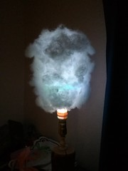 Modified lamp - cloud bulb (night shot)