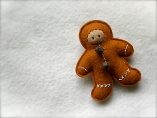 COPPER Gingerbread Man: tan