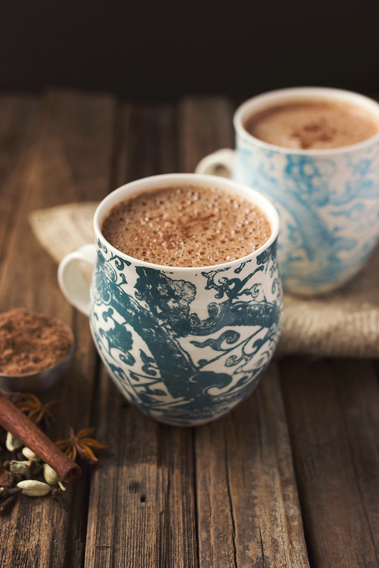 ... bourbon to your Chai Hot Chocolate. Can't go wrong there, either