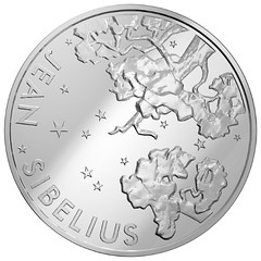 Jean Sibelius coin obverse