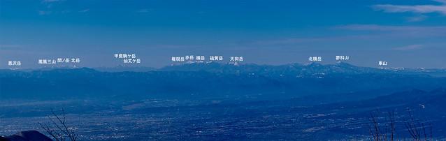 車山~悪沢岳@黒檜山展望台