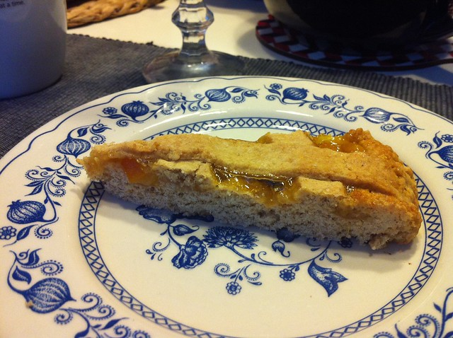 Crostata di farro all'arancia