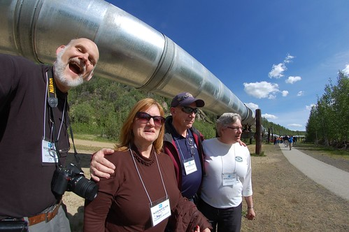 23. BigLee, Pattye, Frosty and Irene with Alaskan Pipeline