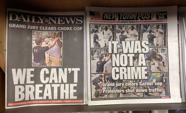 Eric Garner, Daily News & New York Post Covers, Dec 4/2014 picture by Mike Mozart of TheToyChannel and JeepersMedia on YouTube #Eric #Garner from Flickr via Wylio