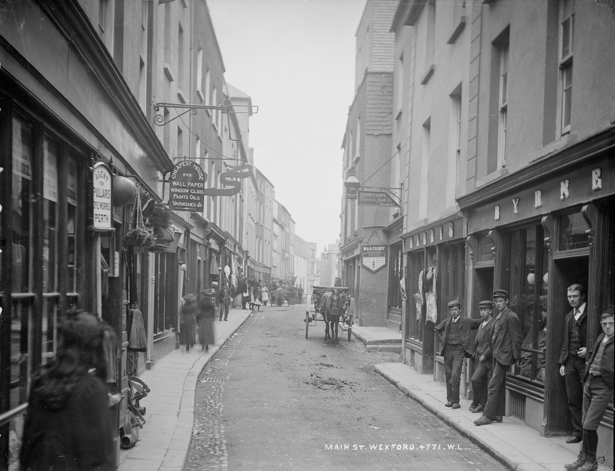 Old photo of Main Street, Wexford