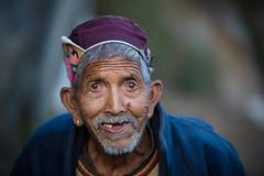 Inde du nord 2014: vieil homme à Manali (Himachal Pradesh)