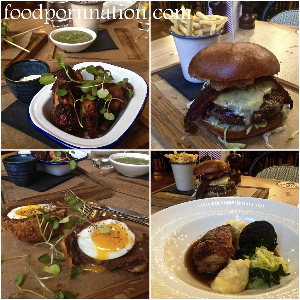 The Porchester - Collage - foodpornnation