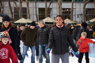 Picture Of Citi Pond Ice Skating At Bryant Park In New York City. Citi Pond Ice Skating Started October 21, 2014 And Ends Sunday March 1, 2015. Photo Taken Friday November 28, 2014