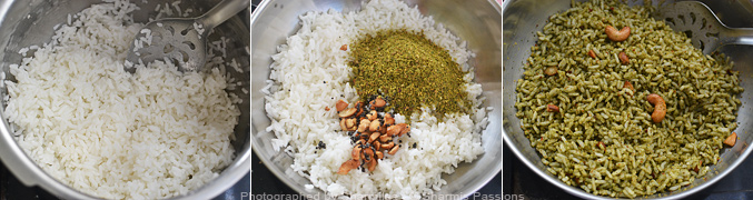 How to make curry leaves rice - Step4