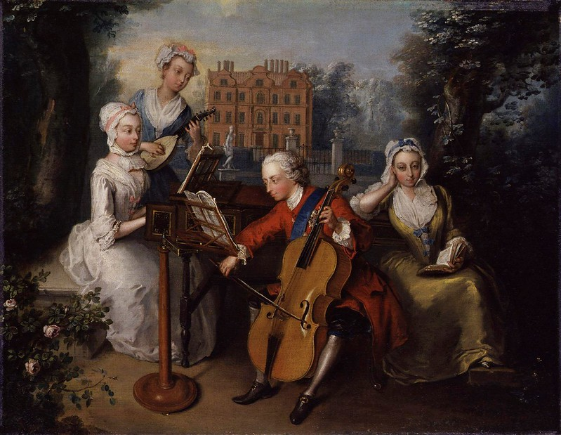 Philippe Mercier - Frederick, Prince of Wales, and his sisters (1733)