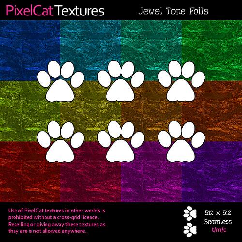 PixelCat Textures - Jewel Tone Foils