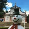 Christmas :thumbsup::smiley::santa: #snowman #bomjesus #igreja #church #montealegre #saopaulo