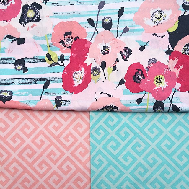 Here are the same prints in second more subtle colorway 💕 #skopelosfabric #KatarinaRoccella #artgalleryfabrics
