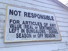 Funny disclaimer sign