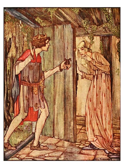 001-Los dos hermanitos-Grimm's fairy tales-1927-Ilust. Rie Cramer