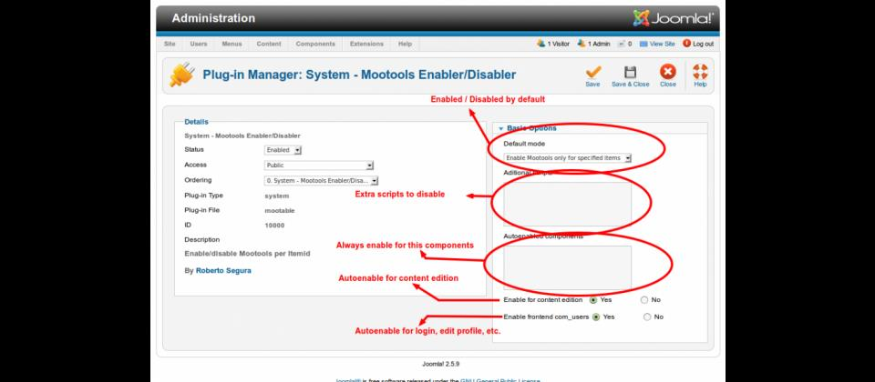 Mootools Enabler/Disabler