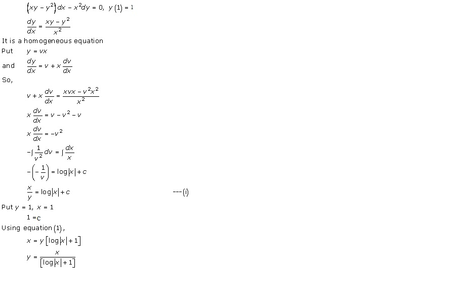 RD Sharma Class 12 Solutions Chapter 22 Differential Equations Ex 22.9 Q36-iv