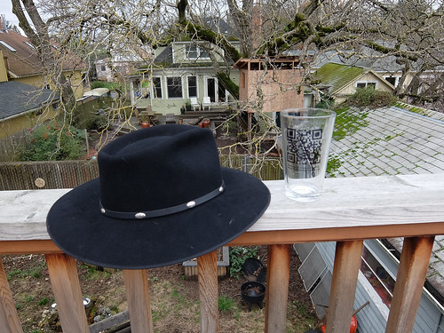 Hat and Glass
