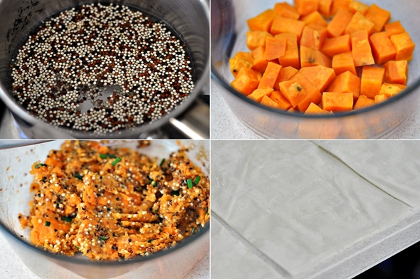 Baked Money Bags with Sweet Potato & Quinoa Filling (Vegan Friendly Recipe) | www.fussfreecooking.com
