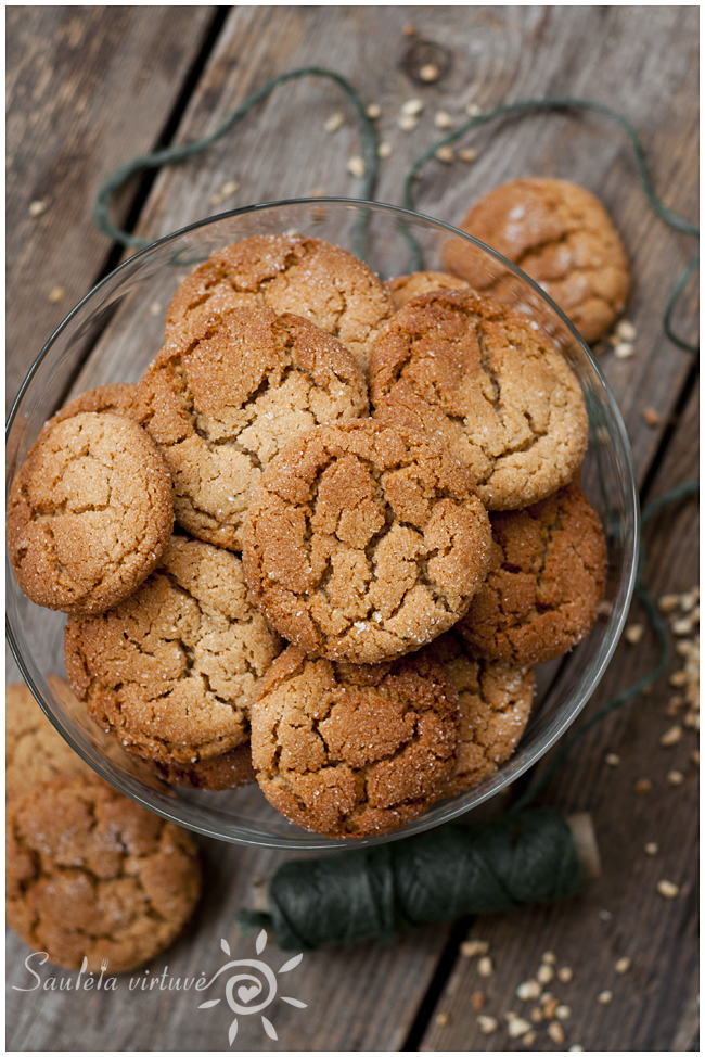 Medaus ir žemės riešutų sviesto sausainiai (1)