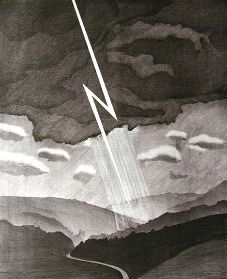 David Hockney, Lightning from the Weather Series, 1973
