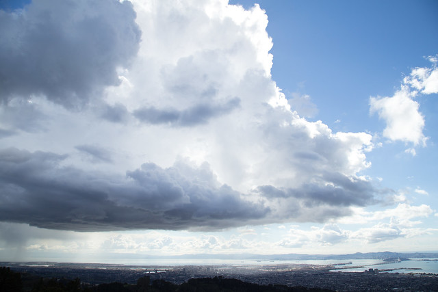 Brilliant clouds over the San Francisco Bay