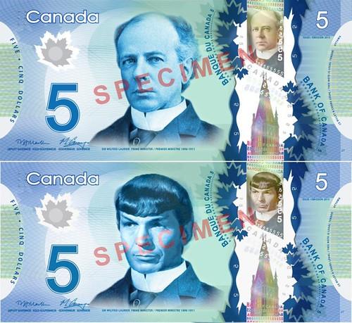 Spock banknote