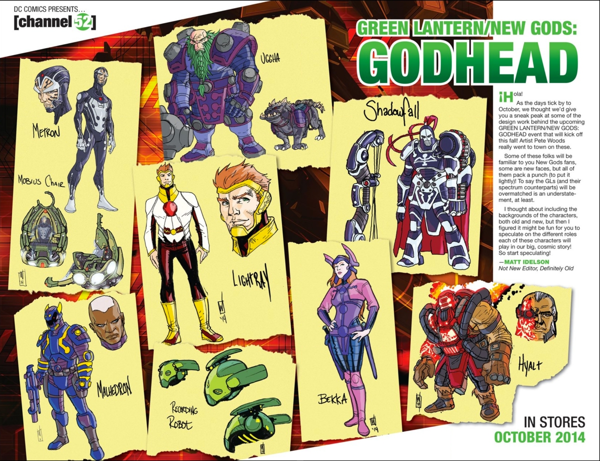 New Gods designs for Godhead