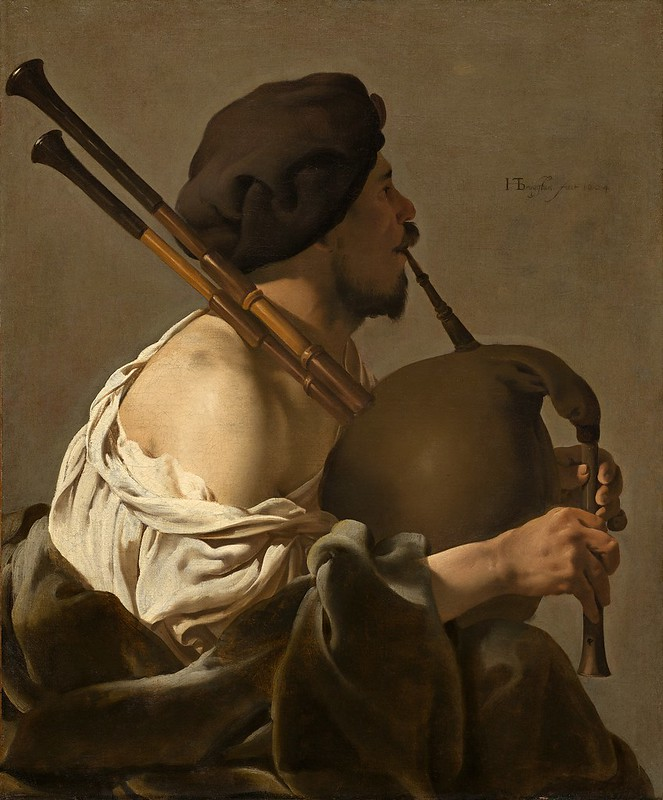 Hendrick ter Brugghen - Bagpipe Player (1624)