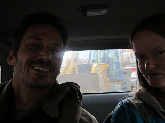 Arriving in La Paz, Stuck in Traffic with a Tractor Behind Us