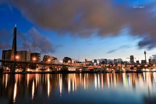 city urban skyline sunrise canon geotagged photography flickr sydney australia nsw cbd pyrmont anzacbridge canon5dmarkiii markbimagery